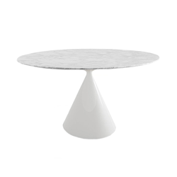 DESALTO table ronde CLAY e marbre