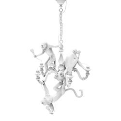SELETTI lampe à suspension MONKEY CHANDELIER WHITE