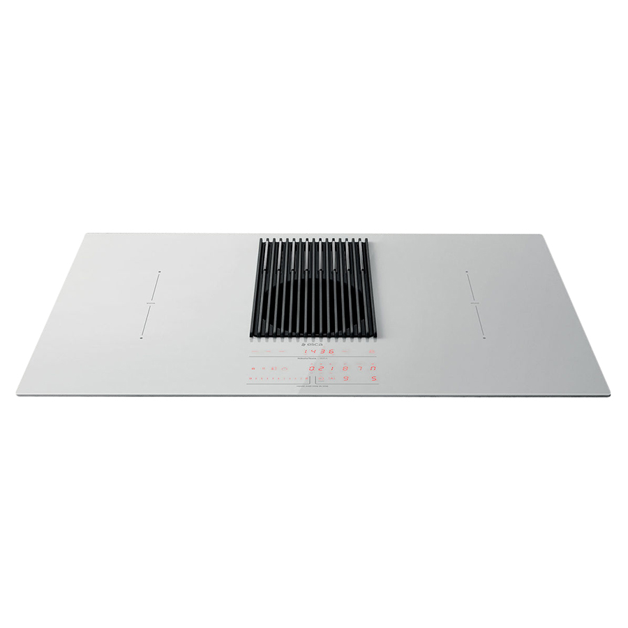 Nikola Tesla Piano Cottura elica induction hob with scale and recycling hood nikolatesla libra  prf0147775 (white - glass)