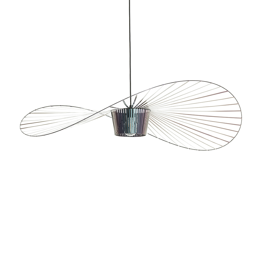 Ampoule Vertigo Petite Friture petite friture lampe à suspension vertigo (petit / scarabée noir irisé -  fibre de verre et polyuréthane)