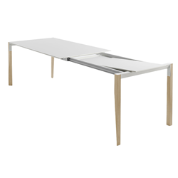 HORM extensible rectangular table TANGO with white Fenix top