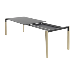 HORM extensible rectangular table TANGO with black Fenix top