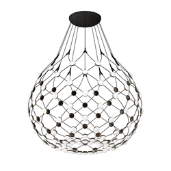 LUCEPLAN lampe à suspension MESH WIRELESS Ø 100 cm