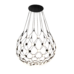 LUCEPLAN lampe à suspension MESH WIRELESS Ø 80 cm