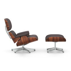VITRA armchair chocolate leather EAMES LOUNGE CHAIR & OTTOMAN new dimensions