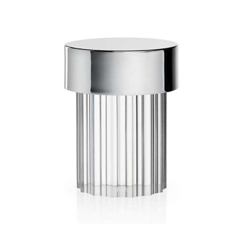 FLOS lampe de table LAST ORDER (Inox / Fluted - Verre, métal et polycarbonate)