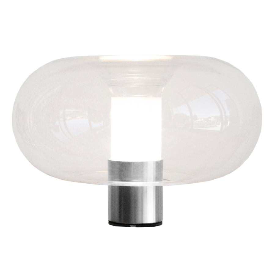 FONTANA ARTE lampe de table FONTANELLA PETITE (Chrome - Verre et métal galvanisé)