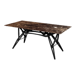 ZANOTTA table with top in Emperador marble REALE