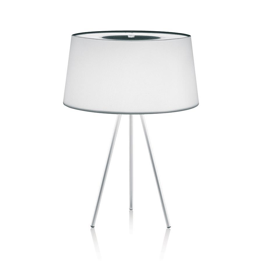 KUNDALINI lampe de table TRIPOD (Blanc, structure blanche - Tissu / Métal)