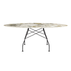 KARTELL oval table GLOSSY 192 x 118 cm