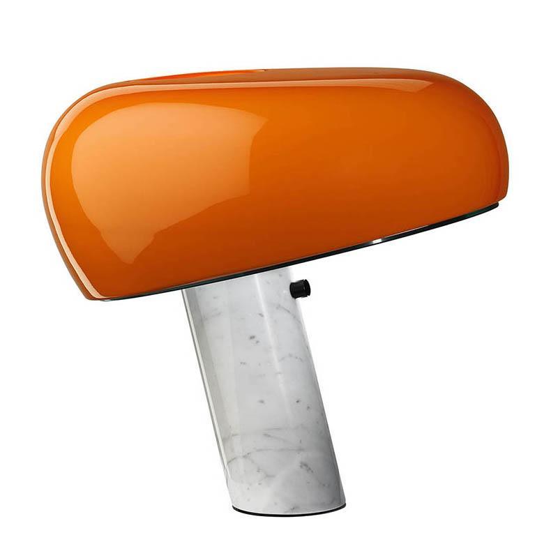 FLOS lampe de table SNOOPY (Orange - Marbre / Métal)