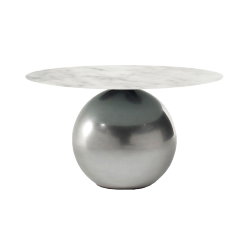 BONALDO round table CIRCUS Ø 140 cm Clouded Chrome base