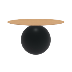 BONALDO round table CIRCUS Ø 140 cm matt black base